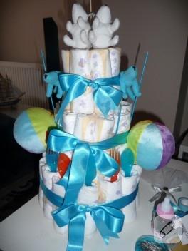Bebek hediyesi bez pasta yapımı