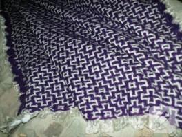 Kafes örgü bebek battaniyesi