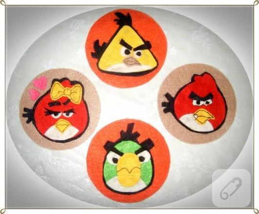 Angry Birds bardak altlıkları