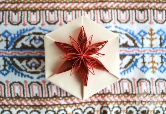 Altıgen origami kutular