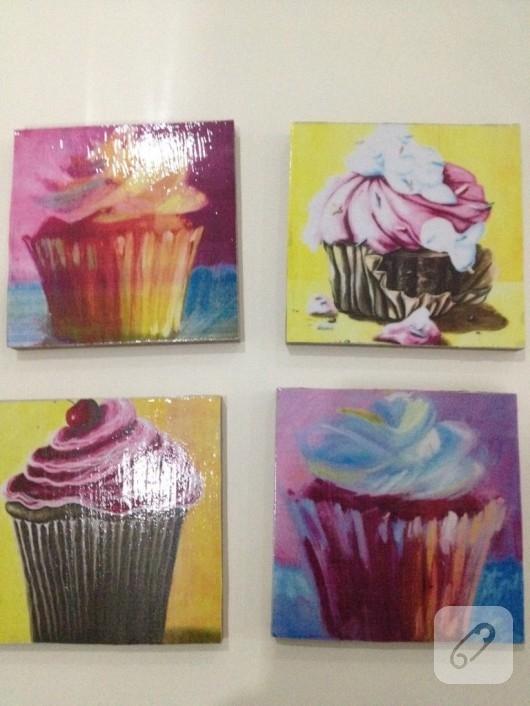 Cupcake bardak altlıkları