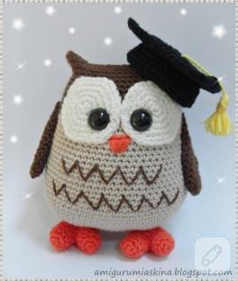 Amigurumi profesör baykuş