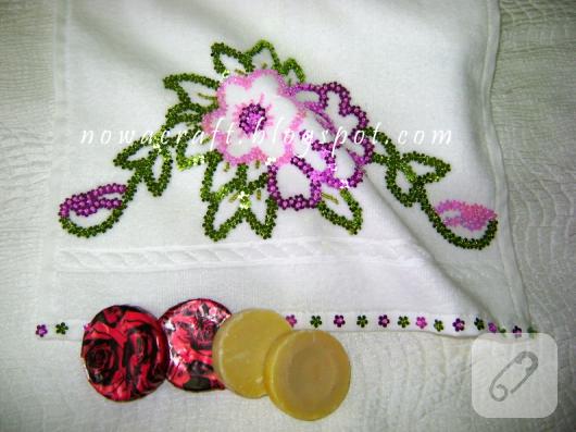 pul işlemeli havlu kenarı