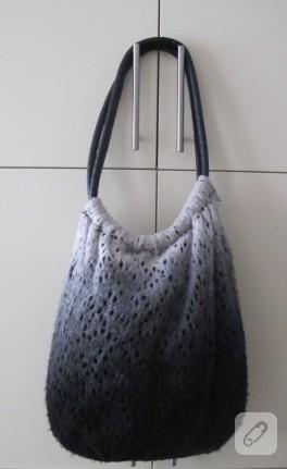 Yün kazaktan çanta