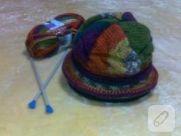 Örgü Hacivat şapkası