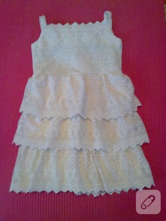 Dantel çocuk elbisesi