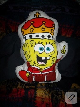El boyaması Sponge Bob yastık