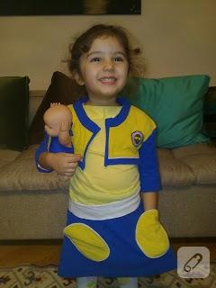 Kızıma Fenerbahçe kostümü