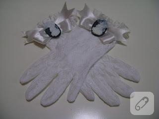 beyaz dantel gelin eldiveni