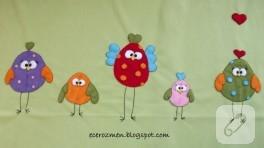 Şaşkın kuşlar bebek battaniyesi