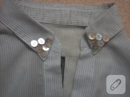12 düğme ile yaka yenileme