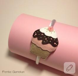 Fıstıklı cupcake taç