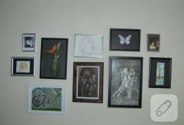 Evimdeki sanat köşeleri (dekorasyon fikirleri)