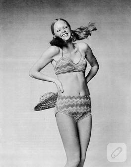 Nostaljik örgü bikini ve örgü mayo modelleri