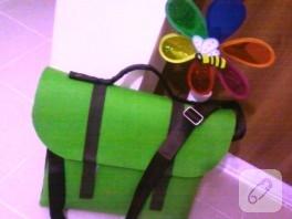 Keçeden kocaman çanta