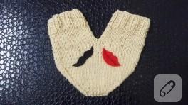 Örgü aşk eldivenleri