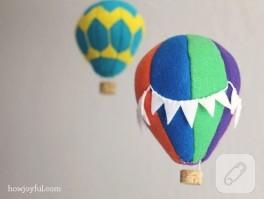 Keçe sıcak hava balonu
