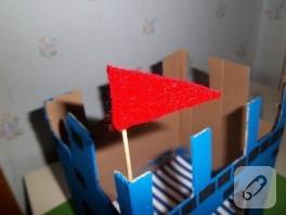 Kartondan kale (çocuklarla faaliyet)