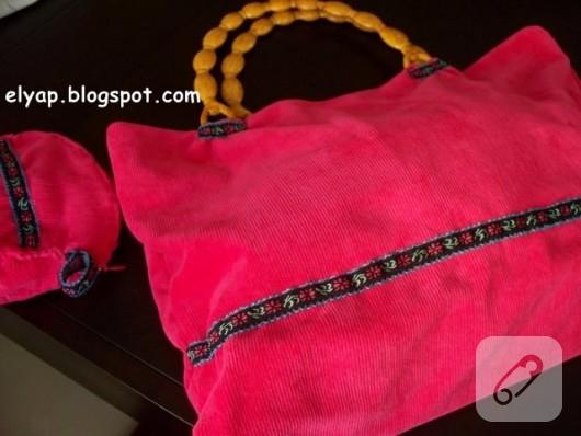 tahta saplı çanta