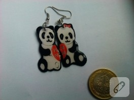 Aşık pandalar (kağıt takı)