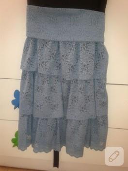 Kız çocukları için dantel elbise modeli