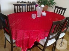 Yemek odası takımı (güpür kumaş)