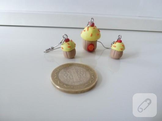 Polimer kil cupcake takılar