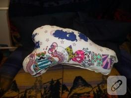 Baykuşlu isim yastıkları (el boyaması)