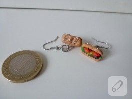 Polimer kil sandviç küpeler