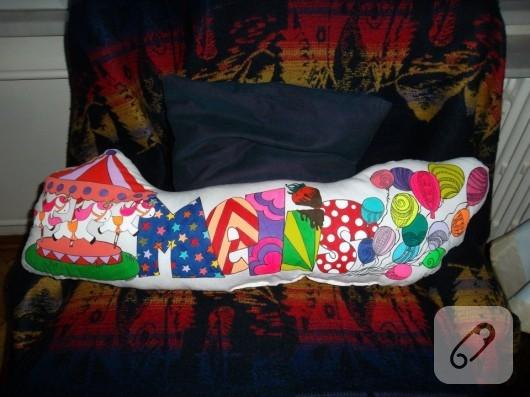 el boyaması yastık