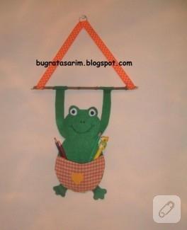 Kurbağa keçe organizer