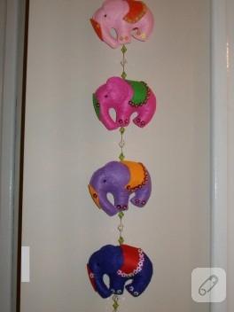 Kapı ve duvar süsü filler