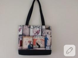 Yazlık çanta ve makyaj çantası (dikiş)