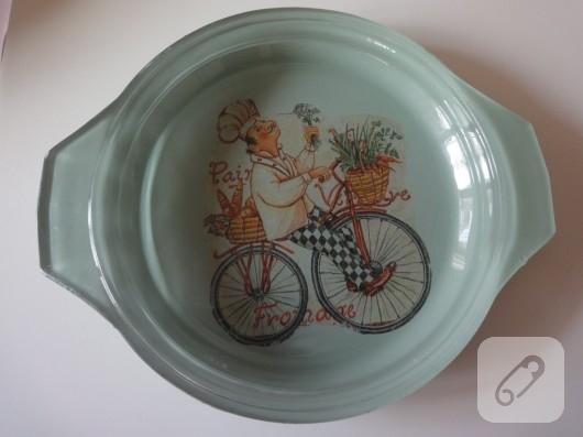 Cam boyama servis tabakları