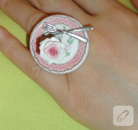 Minyatür cupcake yüzük