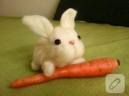Keçe iğneleme tavşan