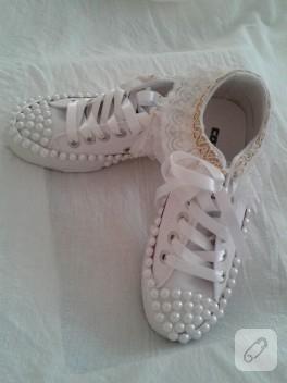Gelin ayakkabısı, Converse süsleme