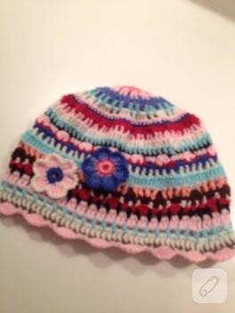Örgü motifli şapka