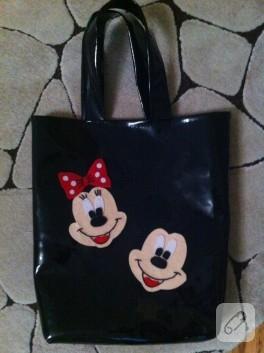 Mickey ve Minnie'li çanta yapılışı
