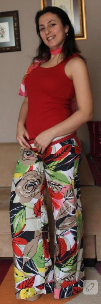 Yazlık çiçekli pantolon