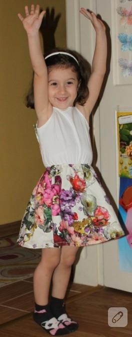 Kuzum çiçek açtı (kız çocuk elbisesi)