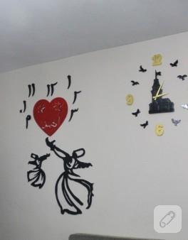 Semazen duvar saati ve duvar süsü (bitmeden önceki son hali)