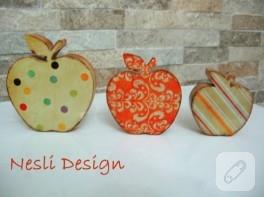 Ahşap boyama elmalar