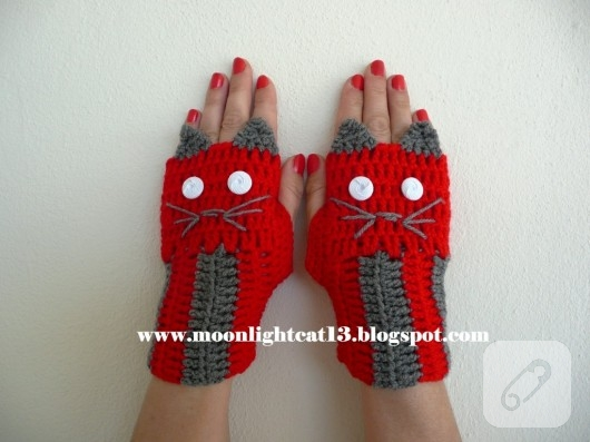 örgü eldiven modelleri