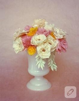 Diy: krep kağıt çiçekler