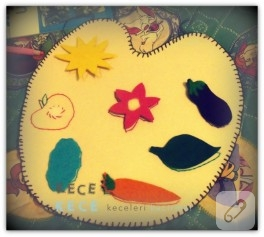 Çocuk faaliyetleri; keçe ile renkleri öğreniyoruz!