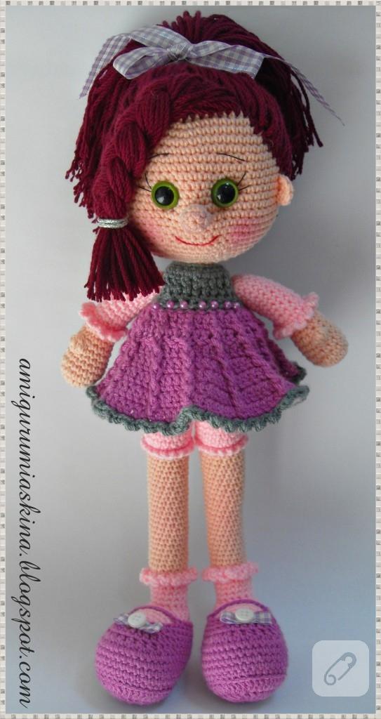Niloya Amigurumi Free Pattern Doll Oyuncak Bebek : Amigurumi ?eker k?z?m - Elif bebek 10marifet.org