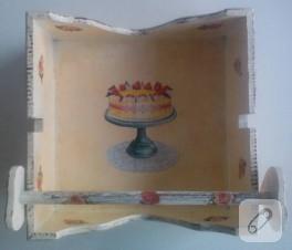 Cupcake dekupajlı peçetelik