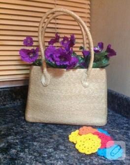 Çantada çiçek (dekorasyon fikirleri)