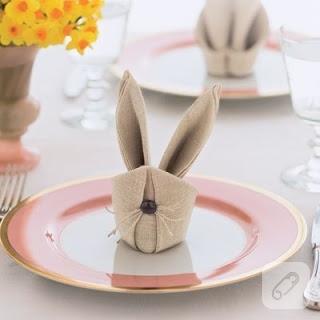 peçeteden tavşan yapımı